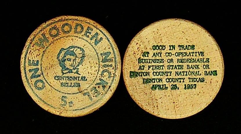 Denton Centennial Wooden Nickels